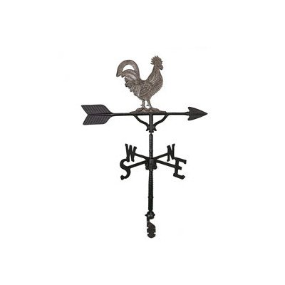 Montague Metal Products 32-Inch Weathervane with Swedish Iron Rooster Ornament