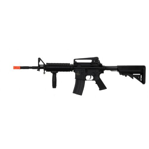 Lancer Tactical LT-04B M16 RIS Electric Airsoft Gun Metal Gear FPS-400(Airsoft Gun) by Lancer Tactical