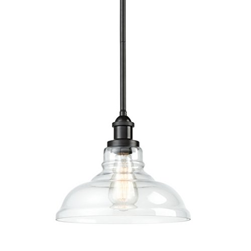 EUL Industrial Style Pendant Lighting Oil Rubbed Bronze Hanging Light (Rod Hanging Pendant Light)