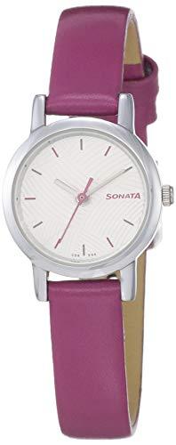Sonata Splash Analog White Dial Women #39;s Watch 8976SL14