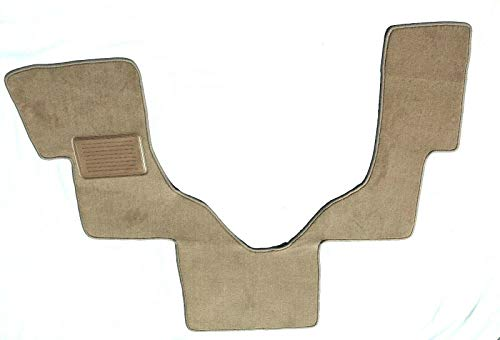 Downard Automotive Mat Compatible with Ford Econoline/E-Series Floor Mat Carpet Custom Fit Replacement Beige/Tan 1 PC Front - Serged Edges and Heel Pad- Fits 2006-2019