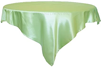 85u0026quot; Square Satin Table Overlays Toppers Tablecloths Table Overlay Cover