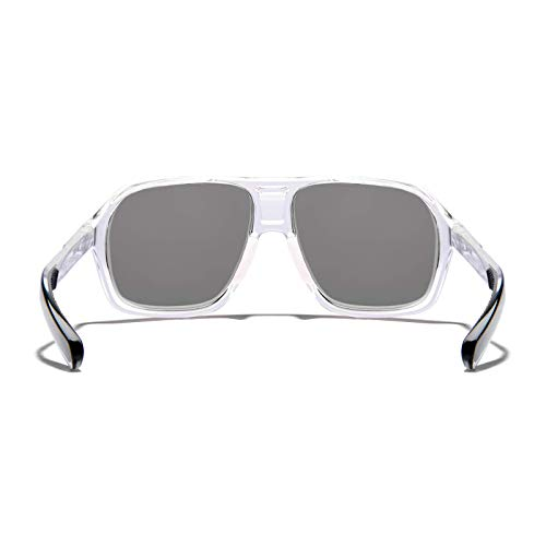 0505a1b68ed0 Amazon.com: ROKA Torino Sports Performance Non-Polarized Sunglasses for Men  and Women - Clear Frame - Dark Carbon Lens: Sports & Outdoors