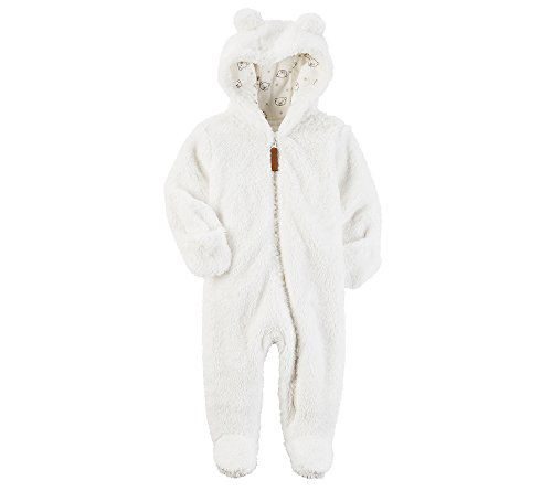 Carter's Baby Newborn-9M Hooded Sherpa Pram Sleep & Play 6 Months