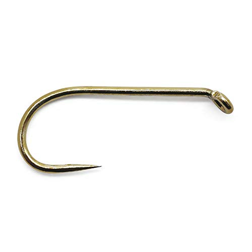 YZD Fly Tying Hooks (120/60 Pk) Dry Wet Nymph Streamer Fly Hook Round Bend Barbless jig Hook Competition Fishing Hook for Trout Salmon Fishing Hooks (1-Wet Dry Fly Hook 9280, 8 Barbless(120 Pack))