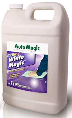 Auto Magic White Magic Pre-softened Cleaner-Wax, 1 Gallon