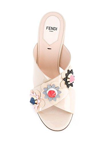 FENDI FEMME 8R6301SNTF07CE BEIGE CUIR VERNIS SANDALES