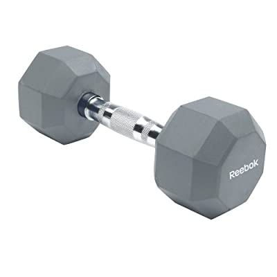 Reebok Rubber Hex Dumbbell from Reebok