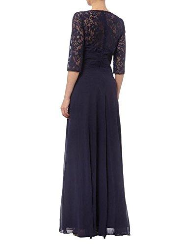 Spitze Blau Elegant mia Braut Violett Rock Promkleider Abendkleider Navy A Ballkleider Fesltichkleider La Linie Brautmutterkleider XI1UqxwUd