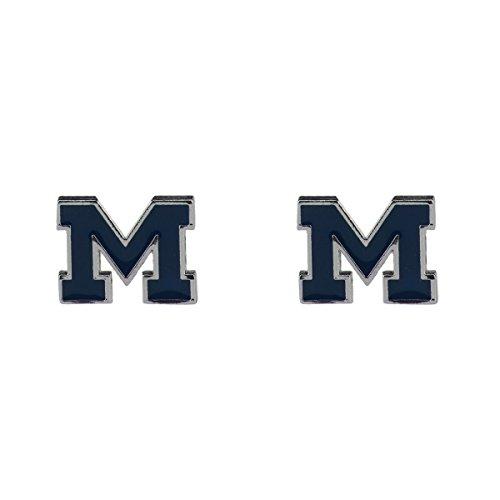 - Sandol Michigan Wolverines Logo Stud Earrings