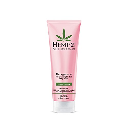 Hempz Herbal Body Wash, Light Pink, Pomegranate, 8.5 Fluid Ounce (Shower 100 Pomegranate Organic % Pure Gel)