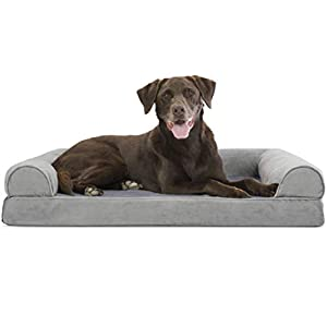 Furhaven Pet – Orthopedic Foam Sofa-Style Traditional Living Room Couch Dog Bed for Dogs and Cats – Multiple Styles…