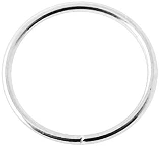 9K Solid White Gold 18 Gauge Seamless Continuous Hoop Nose Ring Piercing Jewelry