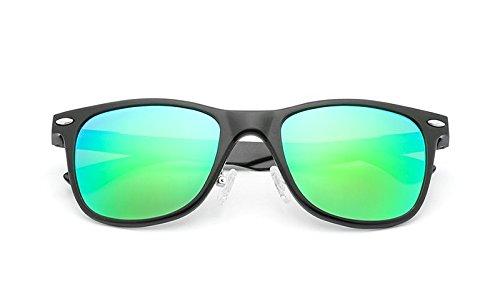 polarizadas JCH Sol Black Unisex Gafas de green arroz de Gafas de de Sol uñas Protección UV clásicas Vintage fwIfrq