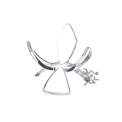 "OnFireGuy 2-1/4"" Acrylic Reversible Three Prong Tulip Display Stand Qty: 3"