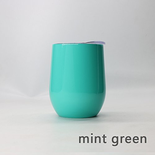 9 Oz temless Wine Cup 304 Stainless steel INSULATED RTIC Technology No Sweat Cold 24 Hours 14 Colormint green