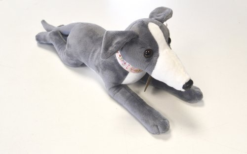 Beautiful Blue Greyhound Soft Toy - Bella 40cm - Limited Edition (Greyhound Stuffed Animal)