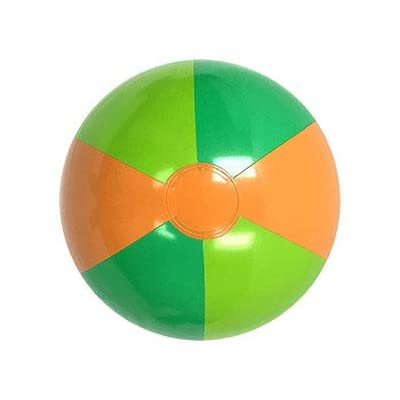 16-Inch Deflated Size Tropical Beach Ball: Toys & Games