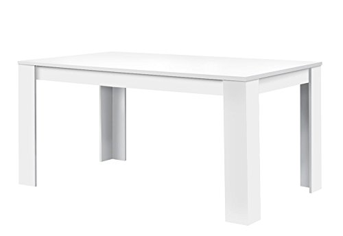 agionda Toledo - Mesa de comedor (120 x 80 cm, con revestimiento de resina de melamina), color bla