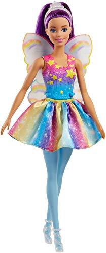 (Barbie Dreamtopia Rainbow Cove Fairy Doll, Purple (Renewed))