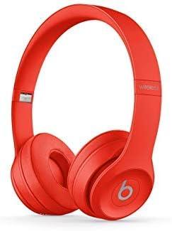 Beats Solo3 Wireless On-Ear Headphones – Citrus Red Renewed