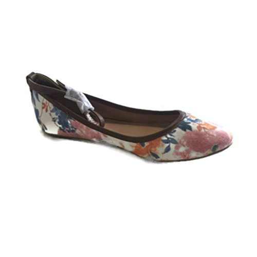 Call It Spring Kessbock Ankle-Strap Ballet Flats White Floral US Size 7 M fD4F1JhO