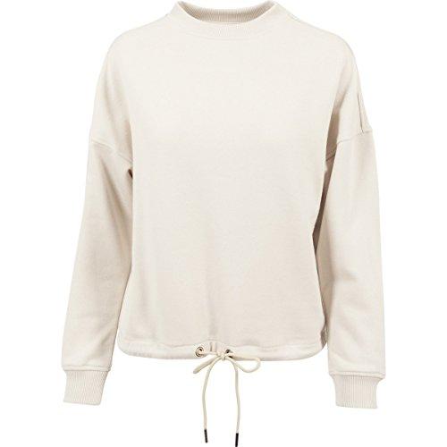 Urban Classic Women's Ladies Oversized Crew Sweatshirt, Elfenbein (Sand 208), X-Small