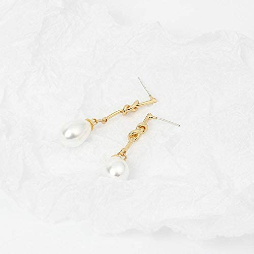 Beautifulchen Perle Ohrringe Design Sinn Ohrringe verknotet einfache Perle matt Ohrbügel