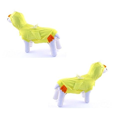 Dog Chicken Costumes (Dog Costume - CHICK COSTUMES Dress Your Dogs Like a Yellow Chicken(Size 3))