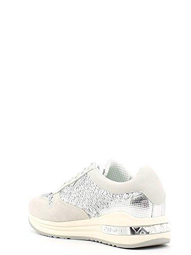 Beige Per In Sneakers Cafènoir Bianco Paiettes Con Donna Camoscio XPwX7Bx