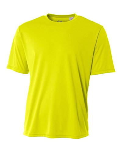 p Bright Power Yellow Adult Large Short Sleeve Wicking Cool & Comfortable Shirt/Undershirt (Yellow Baseball Jersey)