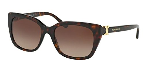 Tory Burch Women TY7099 56 Tortoise/Brown Sunglasses - Burch Cat Frames Eye Tory