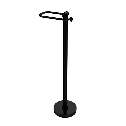 Allied Brass SB-74-BKM Southbeach Collection Free Standing Toilet Tissue Stand, 26-Inch High, Matte Black by Allied Precision Industries