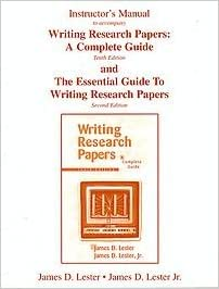 writing research papers a complete guide 16th edition pdf free