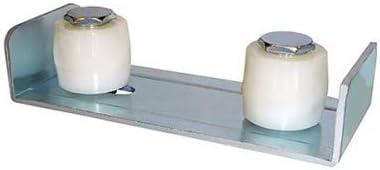 DOJA Industrial | Guia de Piso Ajustable Puerta Corredera | 2 Ruedas | Soporte para Puertas Deslizantes con Cojinetes de Nylon | Portón Electrico Automatico, Puertas Correderas, Granero