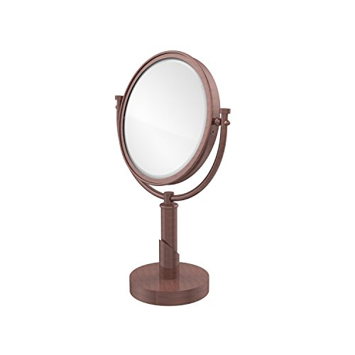 - Allied Brass TR-4/5X-CA Tribecca Collection 8 Inch Vanity Top Make-Up Mirror 5X Magnification, Antique Copper