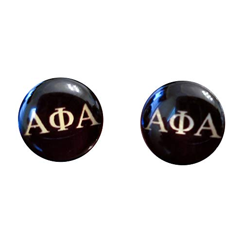 Greekin' It Alpha Phi Alpha Fraternity Small Earrings -Black and Gold (2 Pair per Pack)