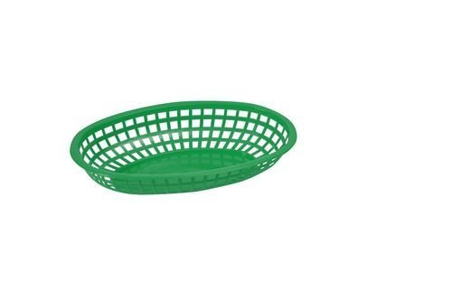 Winco Oval Fast Food Baskets, 10.25-Inch by 6.75-Inch by 2-Inch, Green by Winco