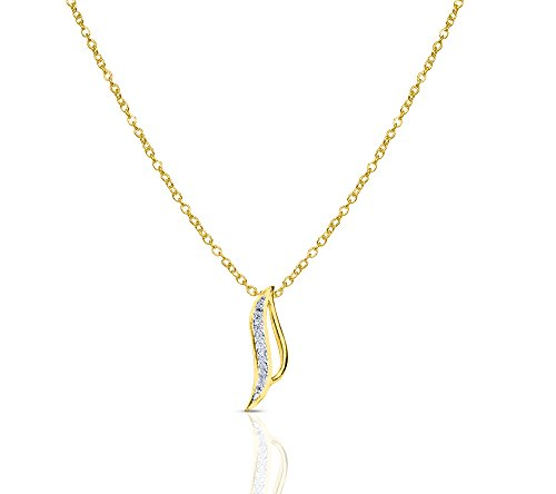 Or Jaune 14 ct Pendentifs Diamant , 0.07 Ct Diamant, GH-SI, 0.69 grammes.