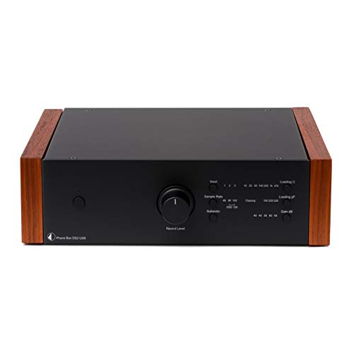 Pro-Ject Phono Box DS2 USB Phono Preamplifier Black Rosenut