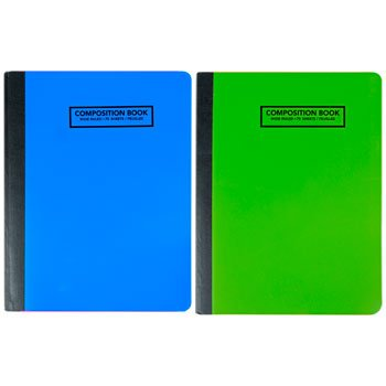 Set of 4 Neon Composition Notebooks