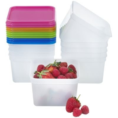 Lakeland Stack-a-Boxes Plastic Food Containers & Lids, 750ml - Pack of 10