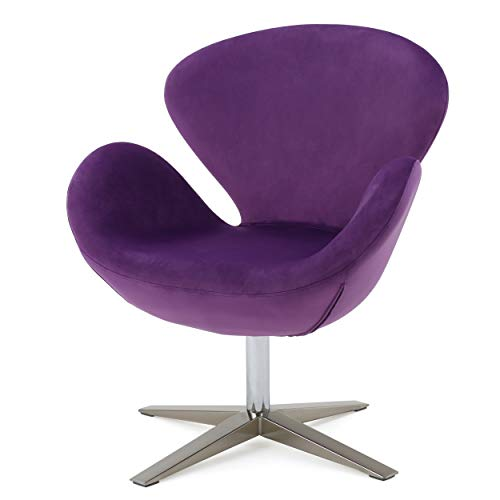 Peachy Christopher Knight Home Manhattan New Velvet Contour Swan Swivel Chair Purple Bralicious Painted Fabric Chair Ideas Braliciousco