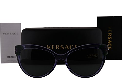 Versace VE4338 Sunglasses Violet Crystal w/Gray Lens 524587 VE - Sunglasses Purple Versace