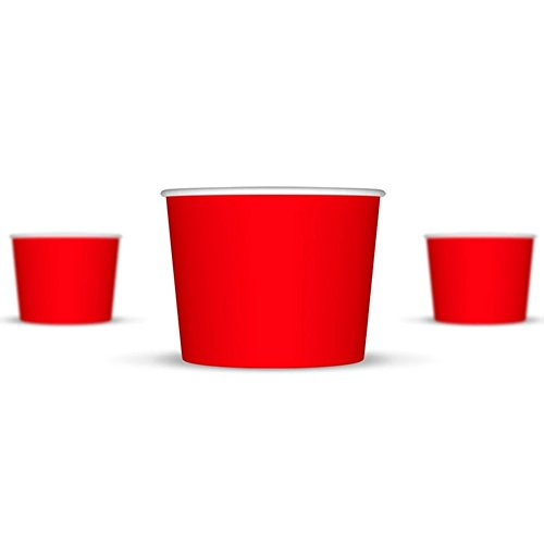 12 oz Ice Cream Cups, Red Paper Cups, Birthday Party Cups-These Disposable Containers Are What You Need For Your Party, These Frozen Dessert Cups Are Great For Ice Cream, Or Other Sweet Treats! (Ice Cream Disposable Cups compare prices)