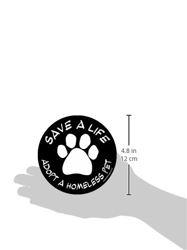 Imagine-This-4-34-Inch-by-4-34-Inch-Car-Magnet-Social-Issues-Circle-Adopt-a-Homeless-Pet-Black