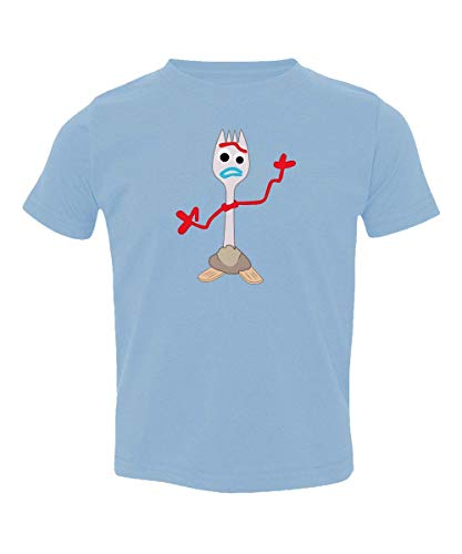 TMB APPAREL Forkie's Here Forky Forkie Toy Little Kids Girls Boys Toddler T-Shirt (Carolina Blue, 5T)