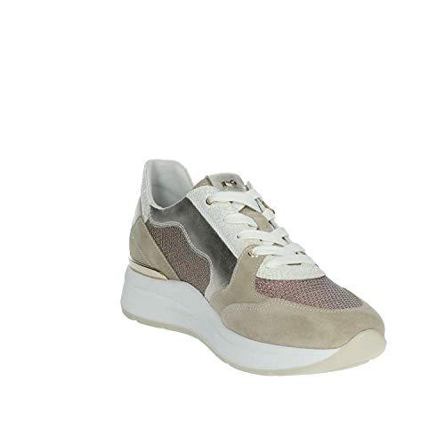 Giardini Mujer Platino P907722d Nero Sneakers vdwAvSq