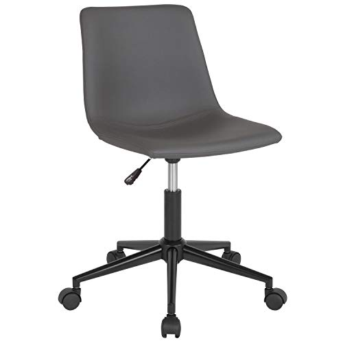 Flash Furniture Siena Home and Office Task Chair in Gray Leather
