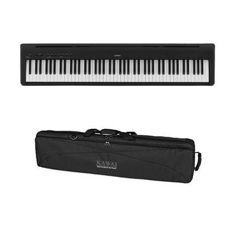 Kawai ES110 88-Key Portable Digital Piano, Stylish Black – With Kawai SC-2 Soft Case for ES110 Digital Piano